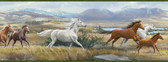 BBC48481B Sally Blue Wild Horses Portrait Border