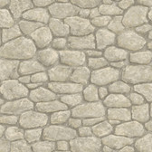 Camelot Faux Boundary Stone Cream Wallpaper BBC49437