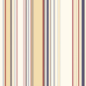 Charles Lookout Stripe Cream-Denim Wallpaper BBC58516