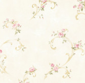 Betty Tearose Acanthus Trail Cream Wallpaper BBC77761