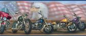 Bruce Americana Motorcycles Portrait Blue Border Wallpaper BBC92321B