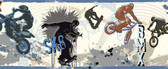 Bogie Extreme Sports Blue Border Wallpaper BBC94143B