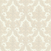 Bradford Bigelow Fabric Damask Champagne Wallpaper 492-2011