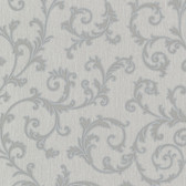 Bradford Harper Elegant Scroll Silver Wallpaper 492-2109