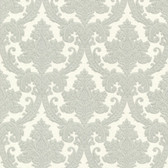 Bradford Bigelow Fabric Damask Sage Green Wallpaper 492-2111