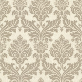 Bradford Hughes Royal Damask Warm Grey Wallpaper 492-2112