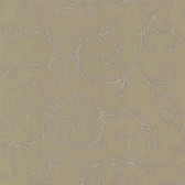 Bradford Harper Elegant Scroll Olive Wallpaper 492-2307