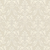 Bradford Bigelow Fabric Damask Beige Wallpaper 492-2311