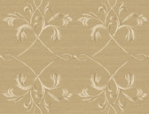 Brilliance April Acanthus Lattice Flaxen Wallpaper BRL98012