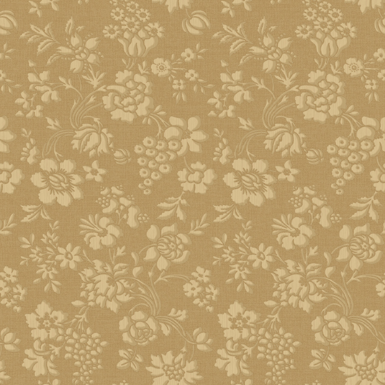 Brilliance Stria Floral Toss Gold Wallpaper Brl98038