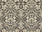 Brilliance Guinevere Baroque Marquetry Ebony Wallpaper BRL980512
