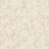 Brilliance Bali Damask Hazelwood Wallpaper BRL980718