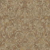 Brilliance Bali Damask Tan Wallpaper BRL98077