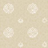 Brilliance Meadow Medallion Oat Wallpaper BRL980813