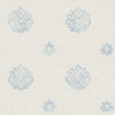 Brilliance Meadow Medallion Aegean Wallpaper BRL980815