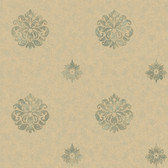 Brilliance Meadow Medallion Basil Wallpaper BRL980817
