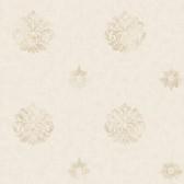 Brilliance Meadow Medallion Parchment Wallpaper BRL980817
