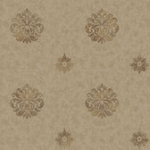 Brilliance Meadow Medallion Cedar Wallpaper BRL98087