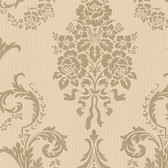Buckingham Chambers Floral Damask Linen Wallpaper 495-69000