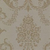 Buckingham Chambers Floral Damask Wood Wallpaper 495-69003