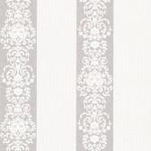 Buckingham Nash Embellished Stripe Salt Wallpaper 495-69006