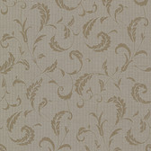 Buckingham Ashton Brass Scrolls Mocha Wallpaper 495-69011