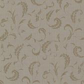 Buckingham Ashton Brass Scrolls Mocha Wallpaper 495-69011