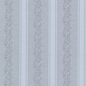 Buckingham Rennie Scrolling Stripe Stone Wallpaper 495-69047