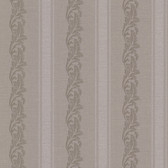 Buckingham Rennie Scrolling Stripe Mauve Wallpaper 495-69048
