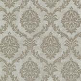 Buckingham Tennyson Shimmer Damask Bone Wallpaper 495-69059