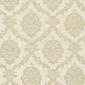 Buckingham Tennyson Shimmer Damask Hazelwood Wallpaper 495-69061