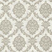 Buckingham Tennyson Shimmer Damask Ash Wallpaper 495-69062