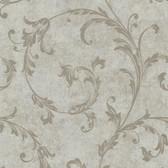 Buckingham Milton Shimmer Scroll Moss Wallpaper 495-69065