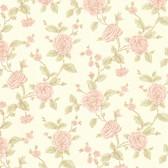 Devon Floral Trail Peach Wallpaper 2601-20822