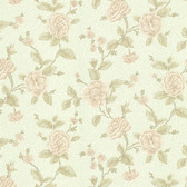 Devon Floral Trail Mint Wallpaper 2601-20825