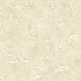 Bayley Scroll Bone Wallpaper 2601-20834