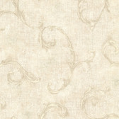 Bayley Scroll Linen Wallpaper 2601-20835