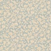Parkside Scroll Sapphire Wallpaper 2601-20879