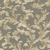 Harper Acanthus Trail Pewter Wallpaper 2601-20894