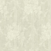 Carleton Floral Bouquet Stripe Oyster Wallpaper 292-80100