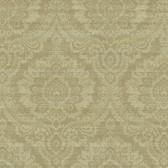 Carleton Traditional Damask Medallion Wallpaper 292-80405