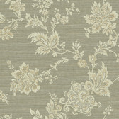 Carleton Jacobean Trail Sage Wallpaper 292-80605