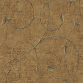 Carleton Scroll Cinnamon Wallpaper 292-80901