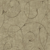 Carleton Scroll Ecru Wallpaper 292-80906
