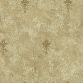 Carleton Medallion Toss Fawn Wallpaper 292-81105