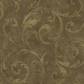 Carleton Large Scroll Coffee Wallpaper 292-81506