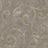 Carleton Large Scroll Mocha Wallpaper 292-81509