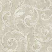 Carleton Large Scroll Ivory Wallpaper 292-81510