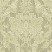 Carleton Damask Oat Wallpaper 292-81604
