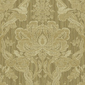 Carleton Damask Mustard Wallpaper 292-81605